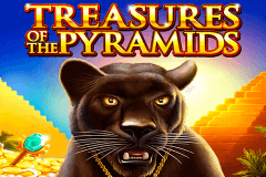 logo treasures of the pyramids igt slot game