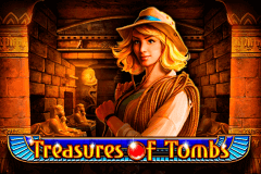 logo treasures of tombs playson slot game
