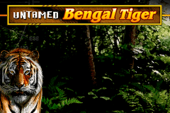 logo untamed bengal tiger microgaming slot game