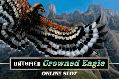 logo untamed crowned eagle microgaming slot game