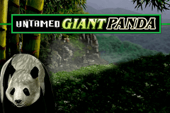 logo untamed giant panda microgaming slot game