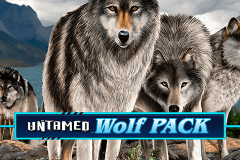 logo untamed wolf pack microgaming slot game