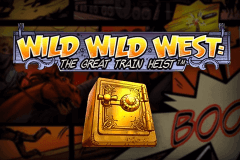 logo wild wild west the great train heist netent
