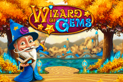 logo wizard of gems playn go slot game