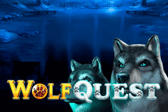 logo wolf quest gameart slot game