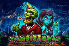 logo zombirthday playson slot game