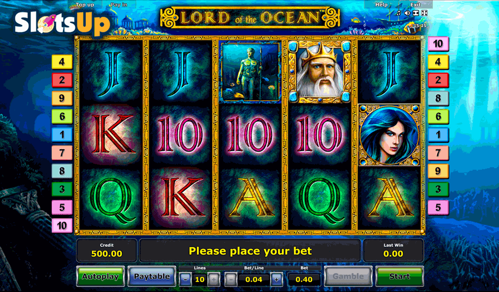 lord of the ocean novomatic casino slots