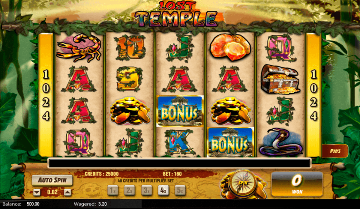LOST TEMPLE LIGHTNING BOX CASINO SLOTS