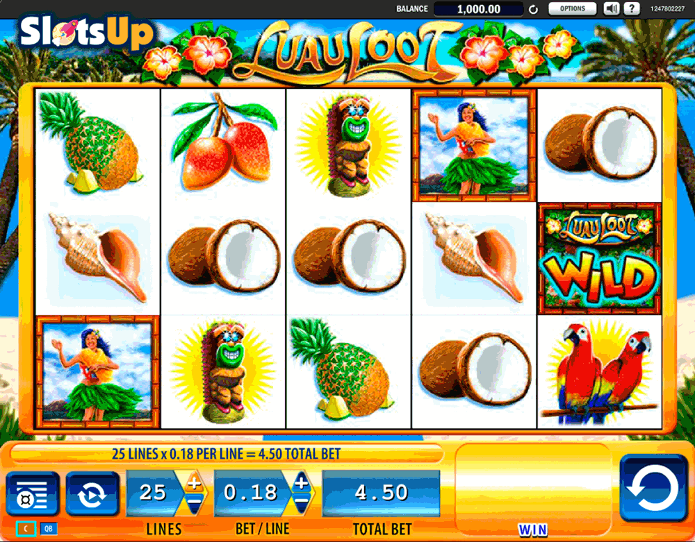 Luau Loot™ Slot Machine Game to Play Free in WMS Gamings Online Casinos
