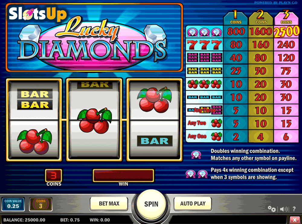 lucky diamonds playn go casino slots
