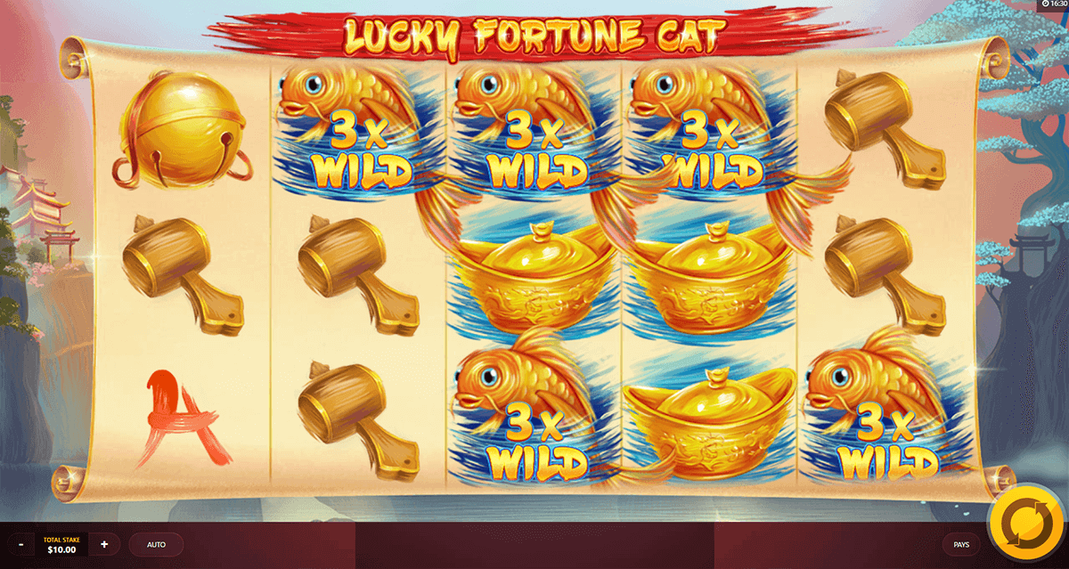 LUCKY FORTUNE CAT RED TIGER CASINO SLOTS