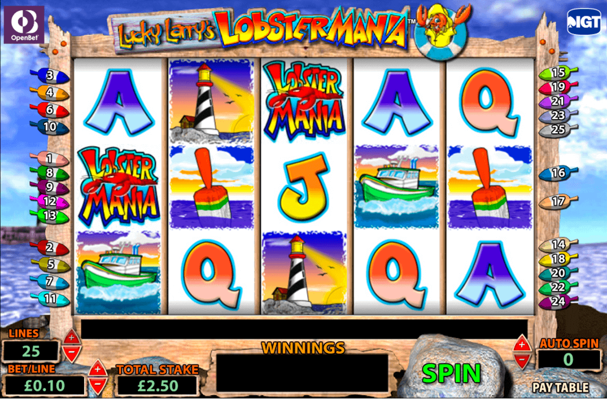 online slots lobstermania