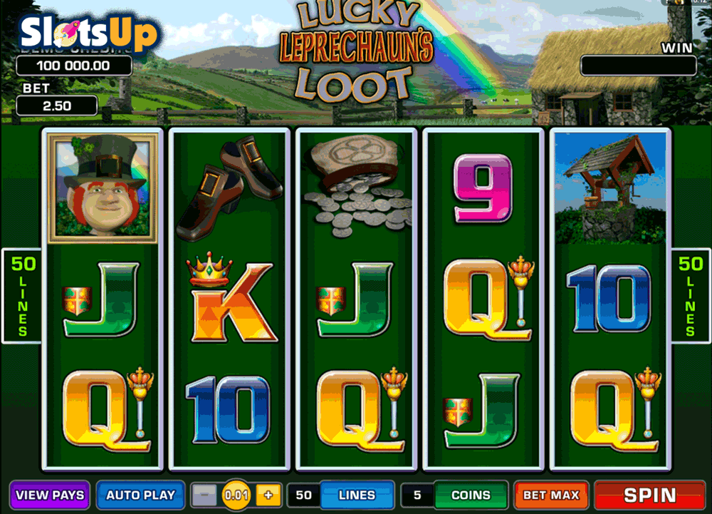 LUCKY LEPRECHAUNS LOOT MICROGAMING CASINO SLOTS