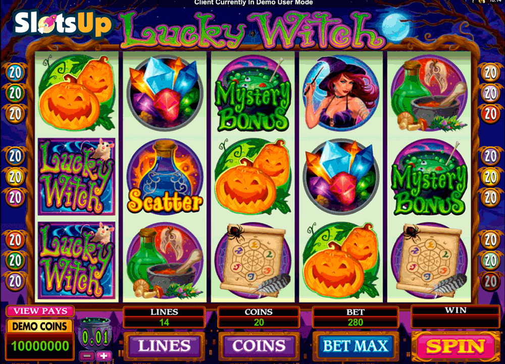 LUCKY WITCH MICROGAMING CASINO SLOTS
