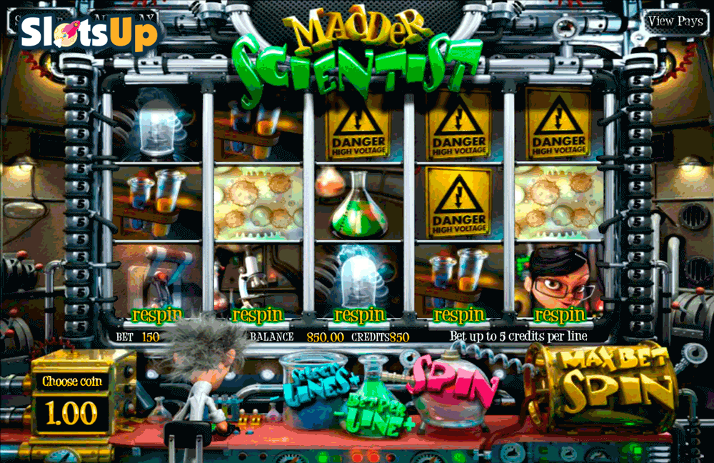 Madder Scientist™ Slot Machine Game to Play Free in BetSofts Online Casinos