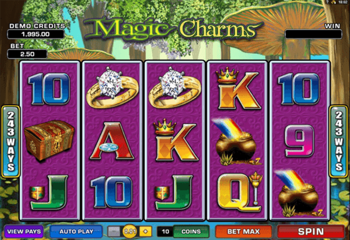MAGIC CHARMS MICROGAMING CASINO SLOTS