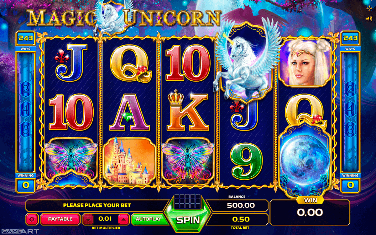 MAGIC UNRN GAMEART SLOT MACHINE