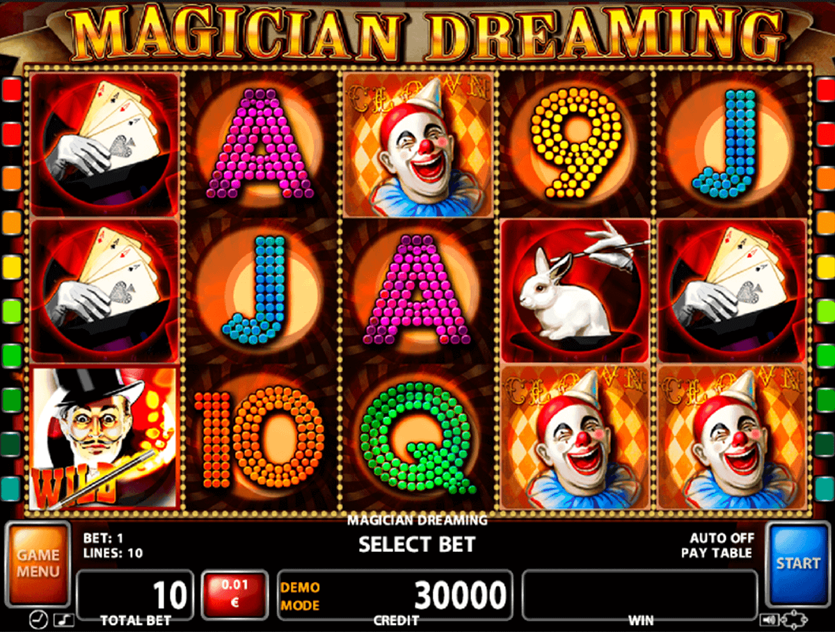 MAGICIAN DREAMING CASINO TECHNOLOGY SLOT MACHINE