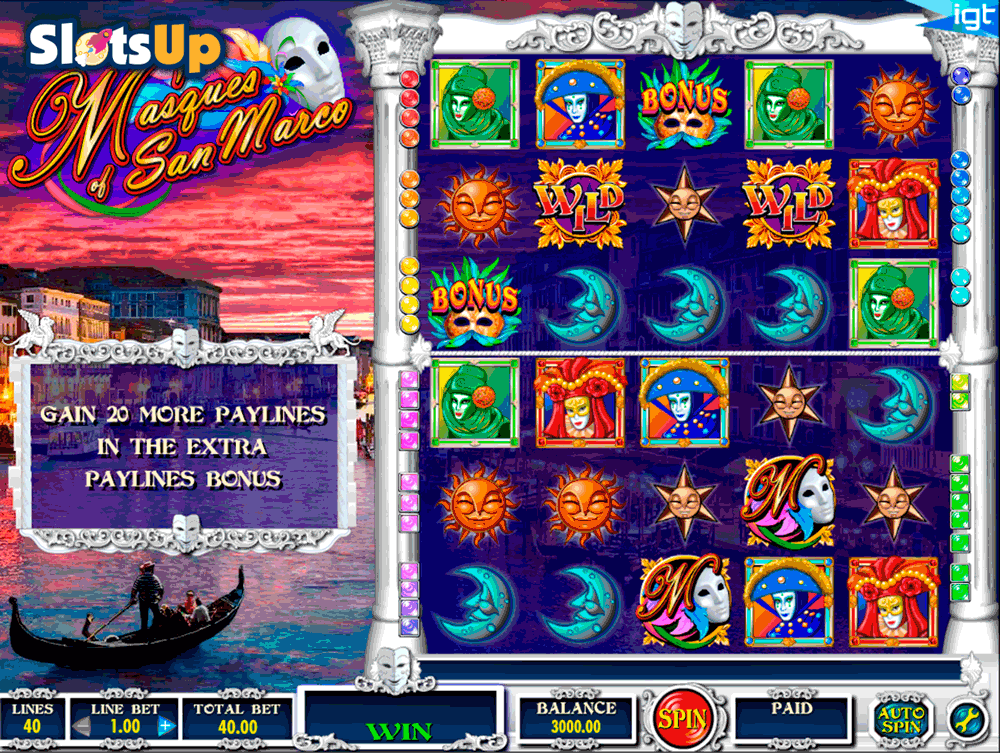 masques of san marco igt casino slots