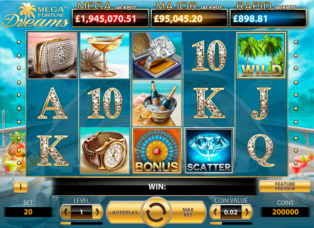 MEGA FORTUNE DREAMS NETENT CASINO SLOTS