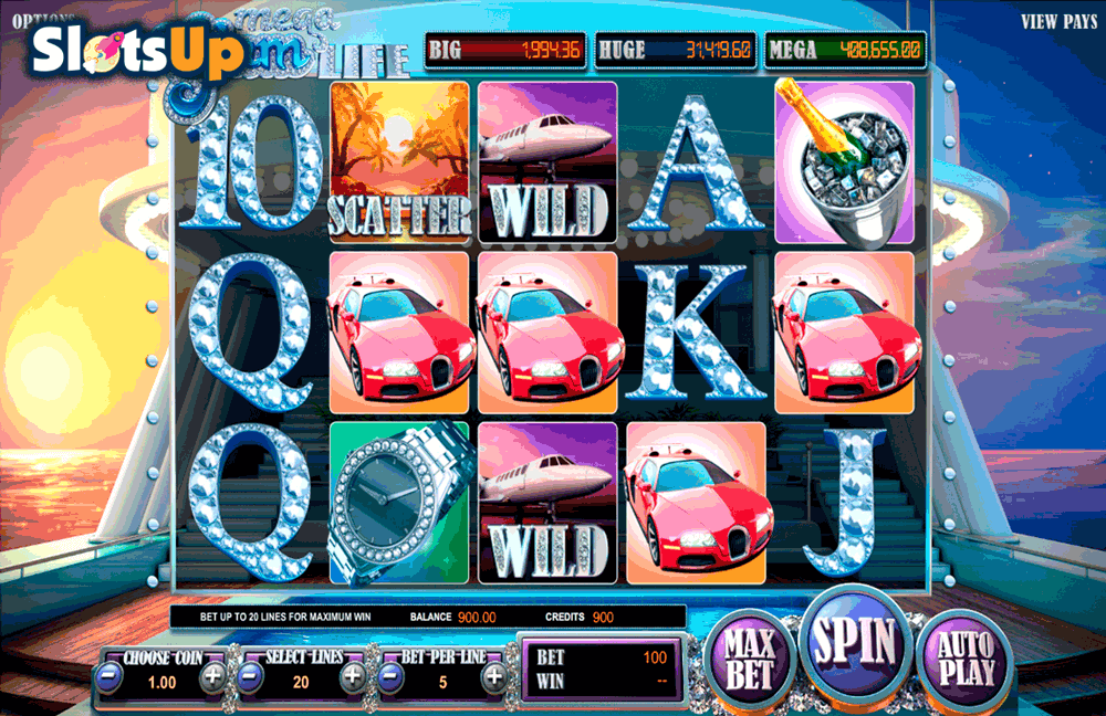 Mega Glam Life™ Slot Machine Game to Play Free in BetSofts Online Casinos