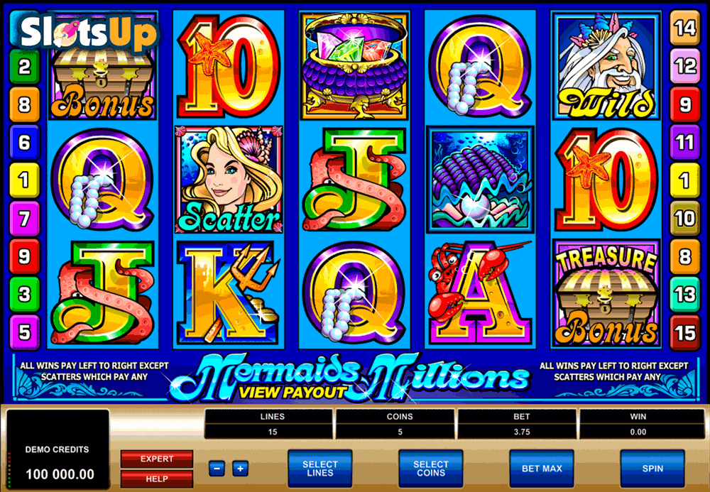 slots games   mermaids millions