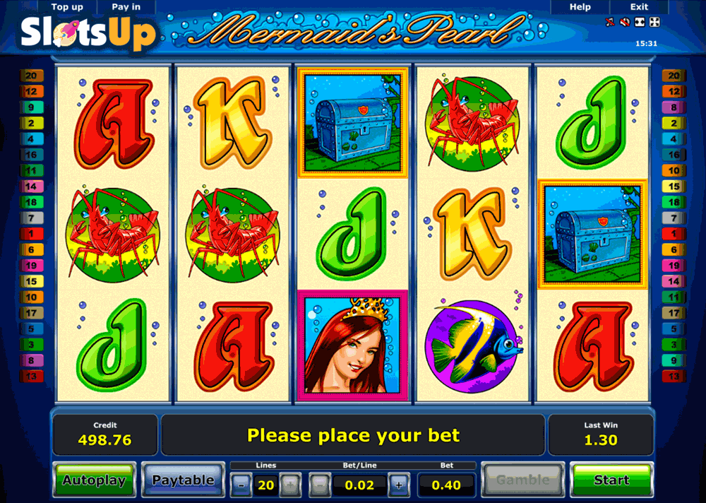 mermaids pearl slot game