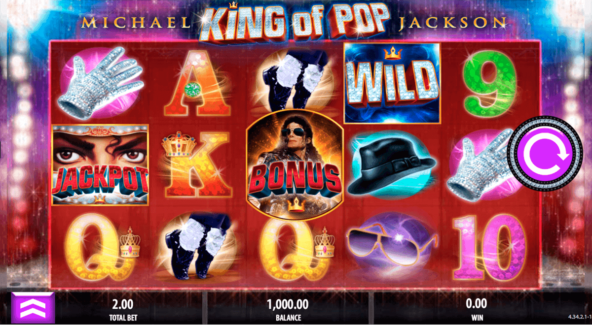 MICHAEL JACKSON KING OF POP BALLY CASINO SLOTS