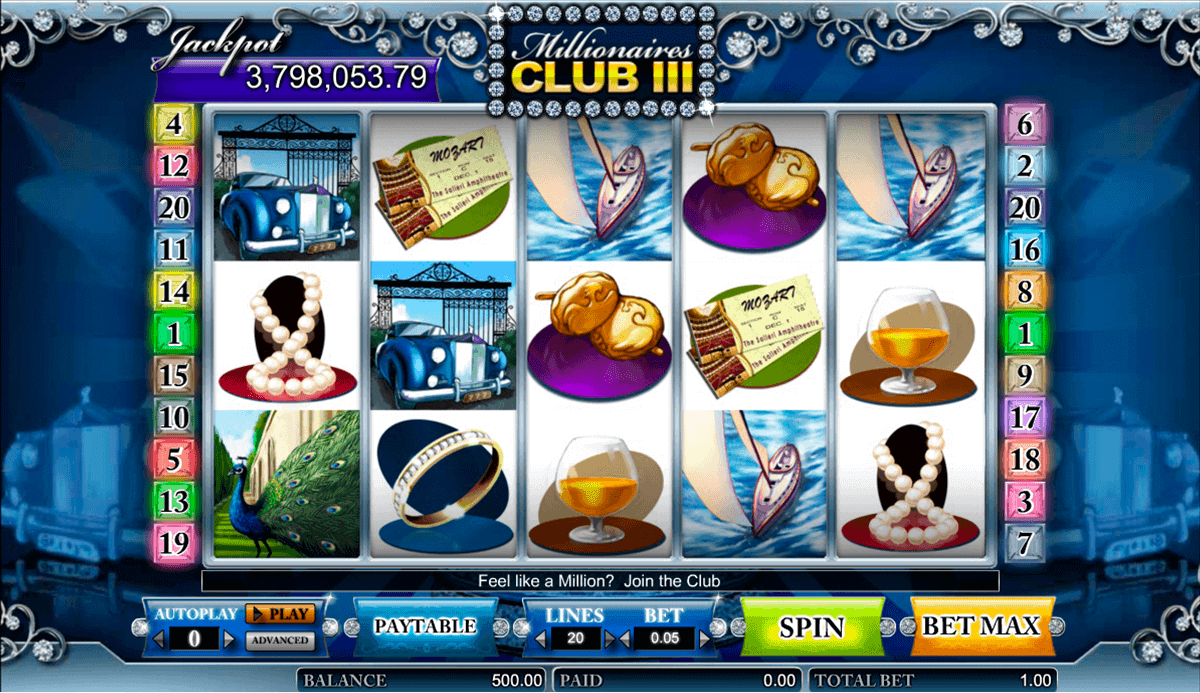 Millionaires Club III™ Slot Machine Game to Play Free in Amayas Online Casinos