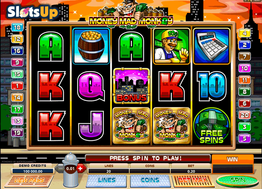 Mad Mad Monkey Slot Machine and Try the Free Online Demo Game