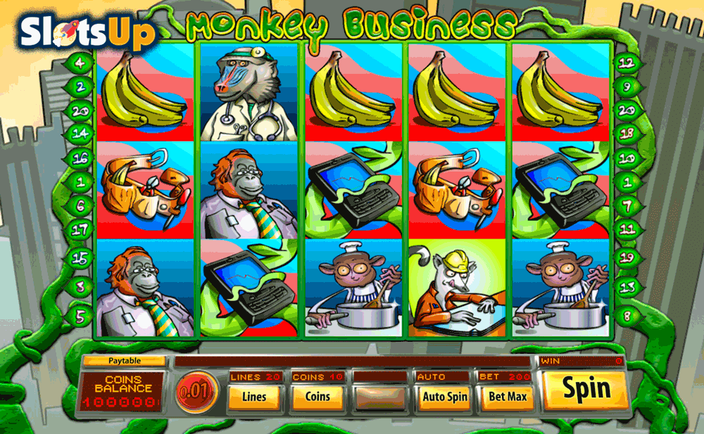Monkey Business™ Slot Machine Game to Play Free in Saucifys Online Casinos