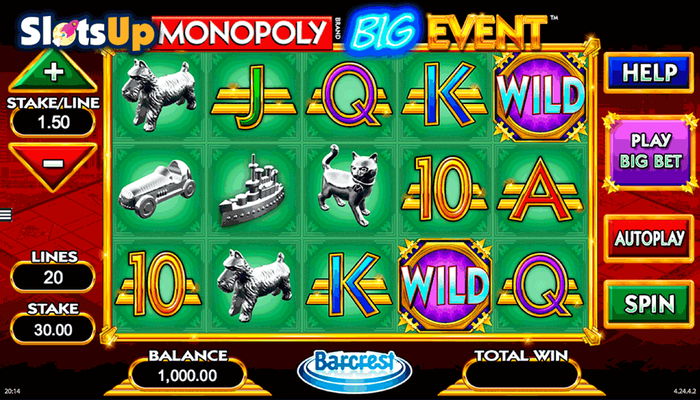 Monopoly Big Event slot - spil gratis med ingen download