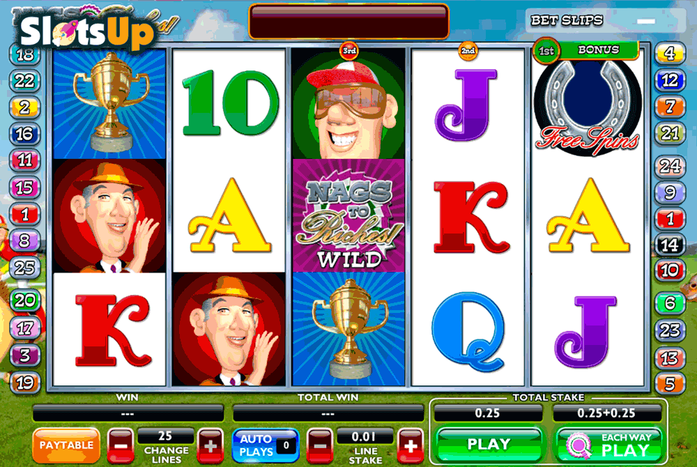 Nags To Riches™ Slot Machine Game to Play Free in AshGamings Online Casinos