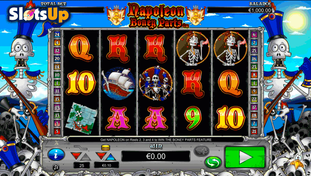 Napoleon Boney Parts Online Slot Machine - Play for Free Now