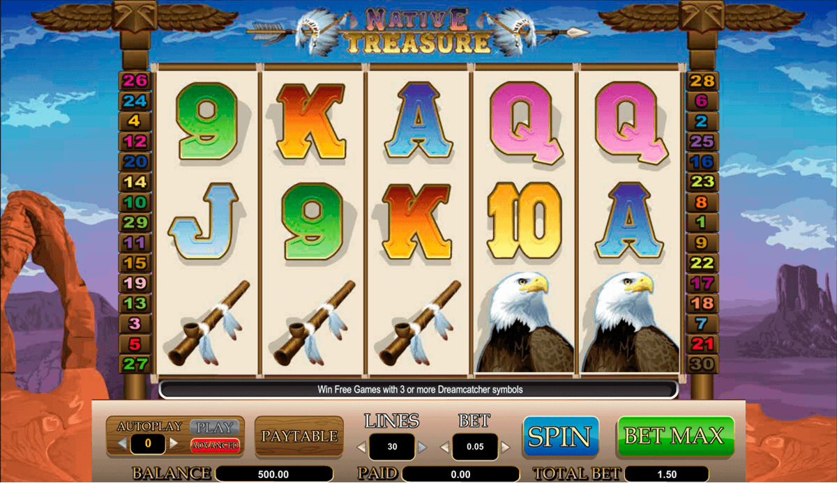 Native Treasure Slots - Play this Video Slot Online