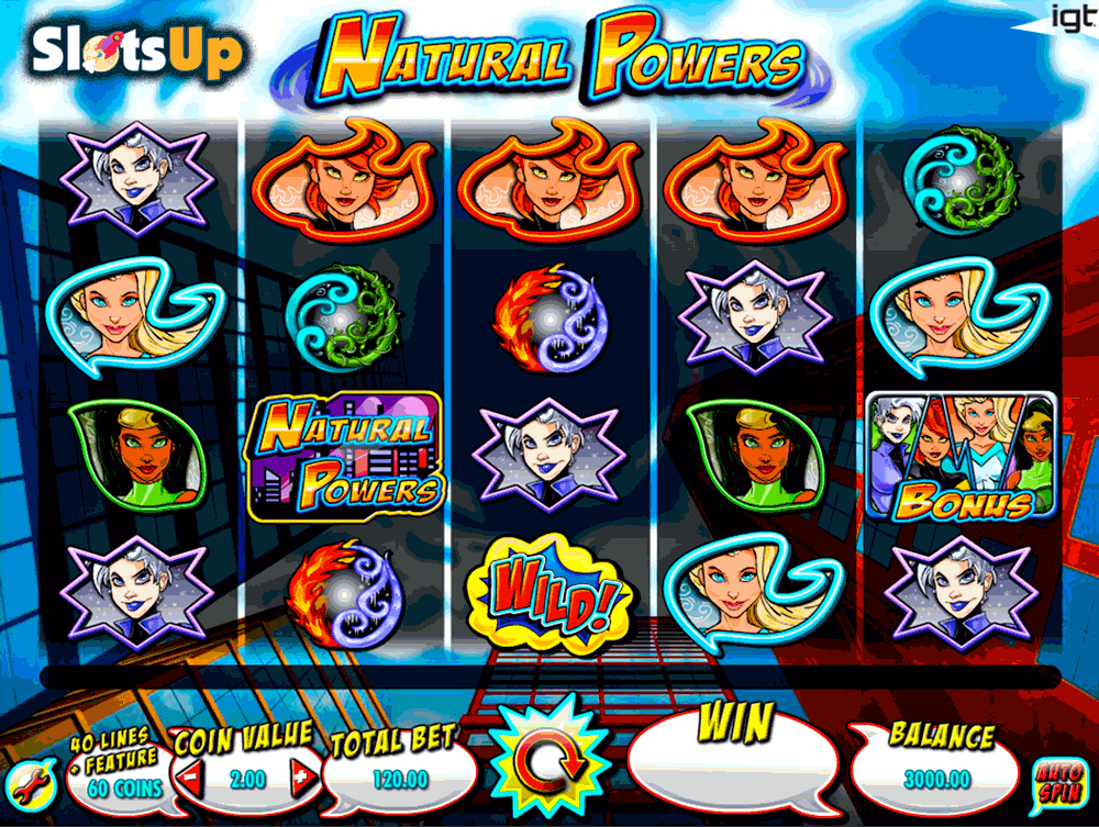 NATURAL POWERS IGT CASINO SLOTS