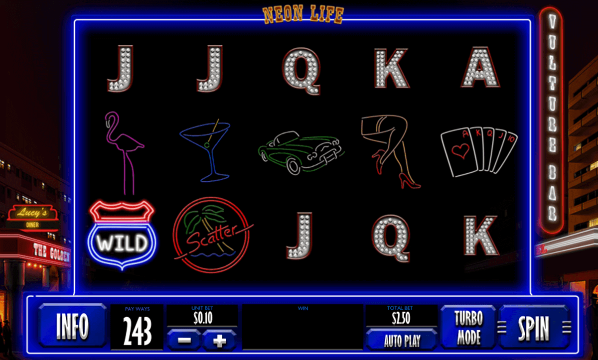 Neon Life Slot Machine...