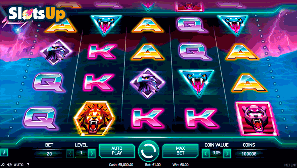 Play Neon Staxx Slot Online at Casino.com UK