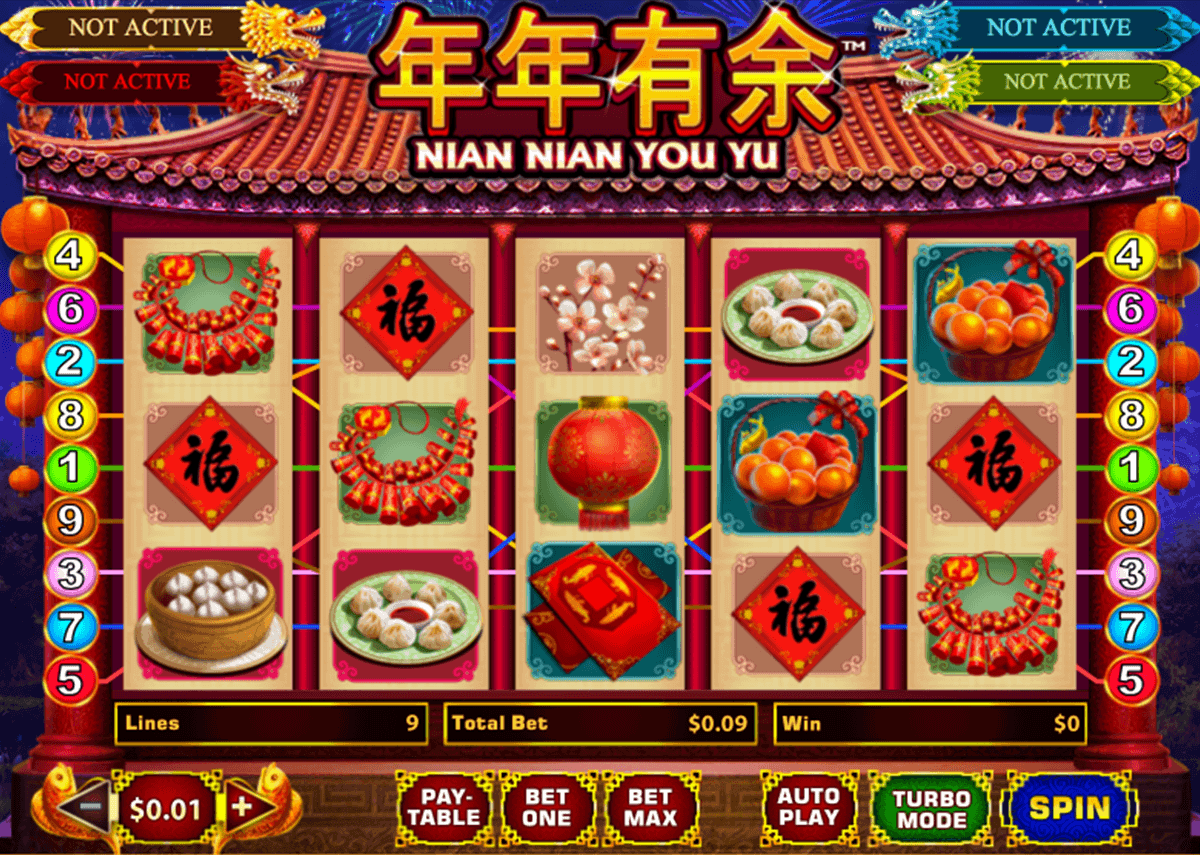 nian nian you yu playtech casino slots