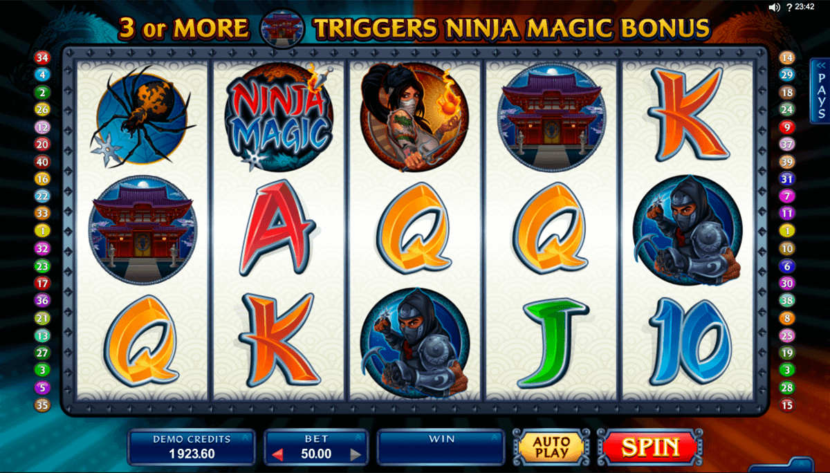 The Ninja Slot Machine - Free to Play Online Casino Game