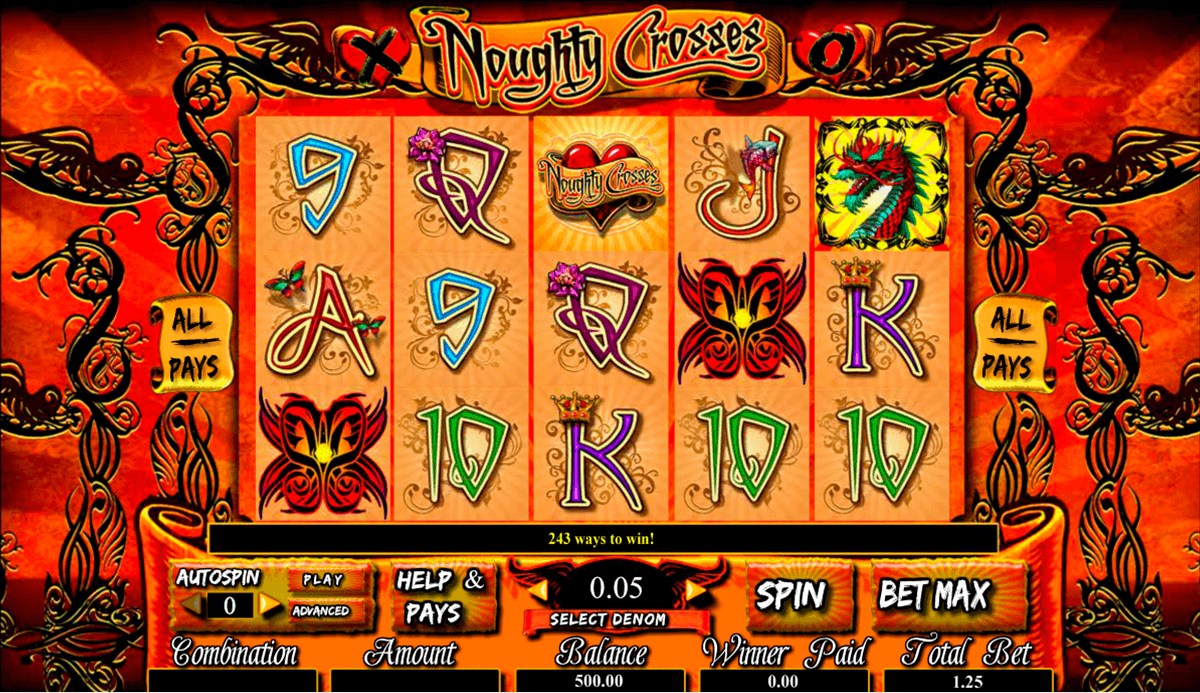noughty crosses amaya casino slots