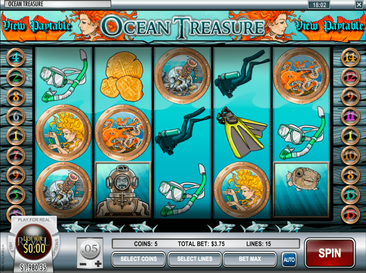 Ocean Treasure Slots Free Play & Real Money Casinos