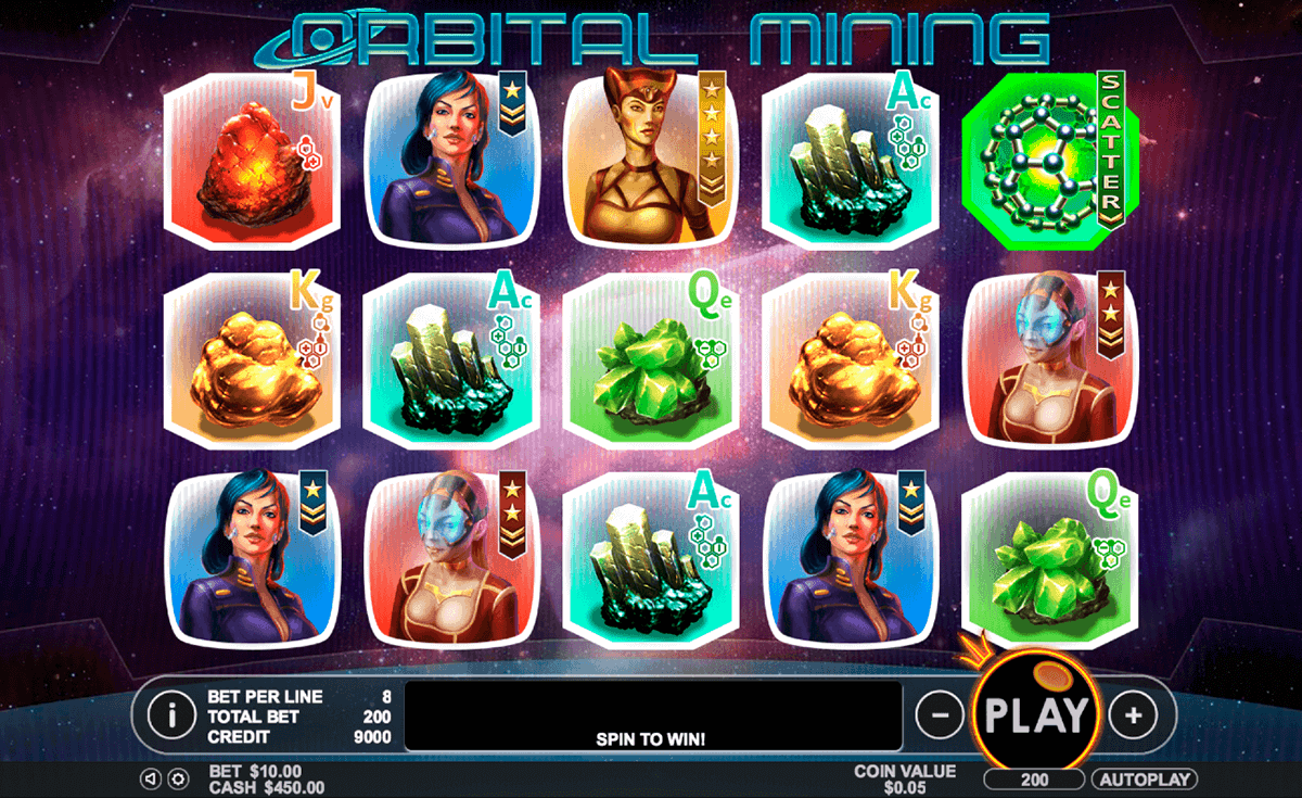 Orbital Mining Slots - Free to Play Online Demo Game