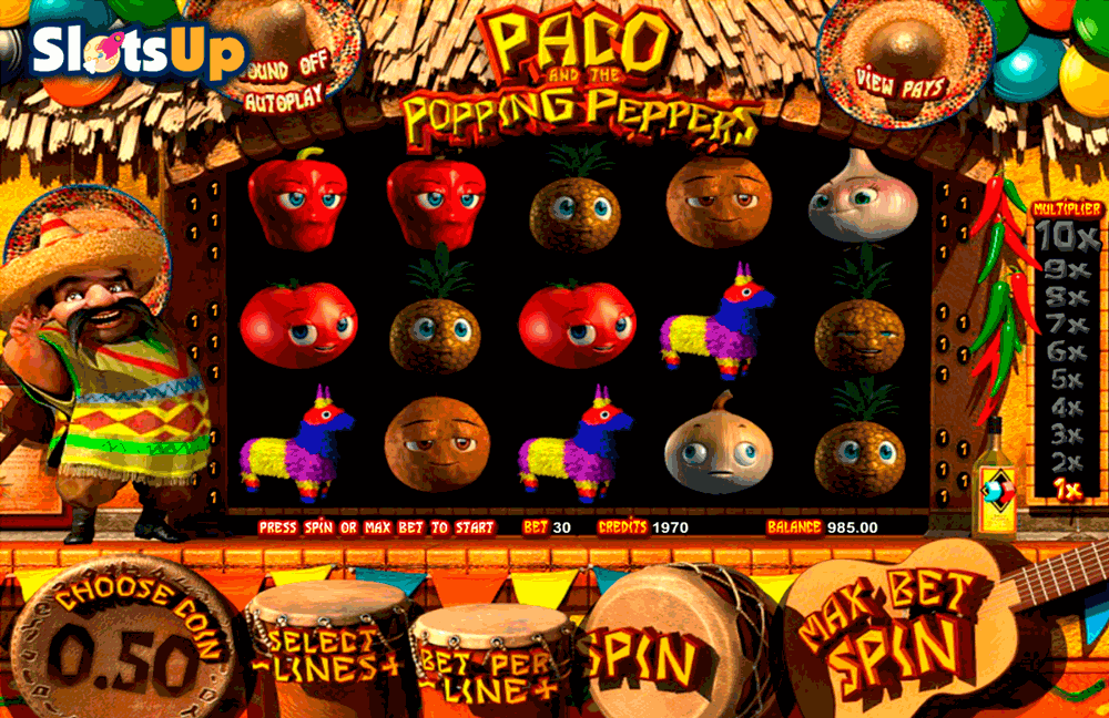Paco and The Popping Peppers™ Slot Machine Game to Play Free in BetSofts Online Casinos
