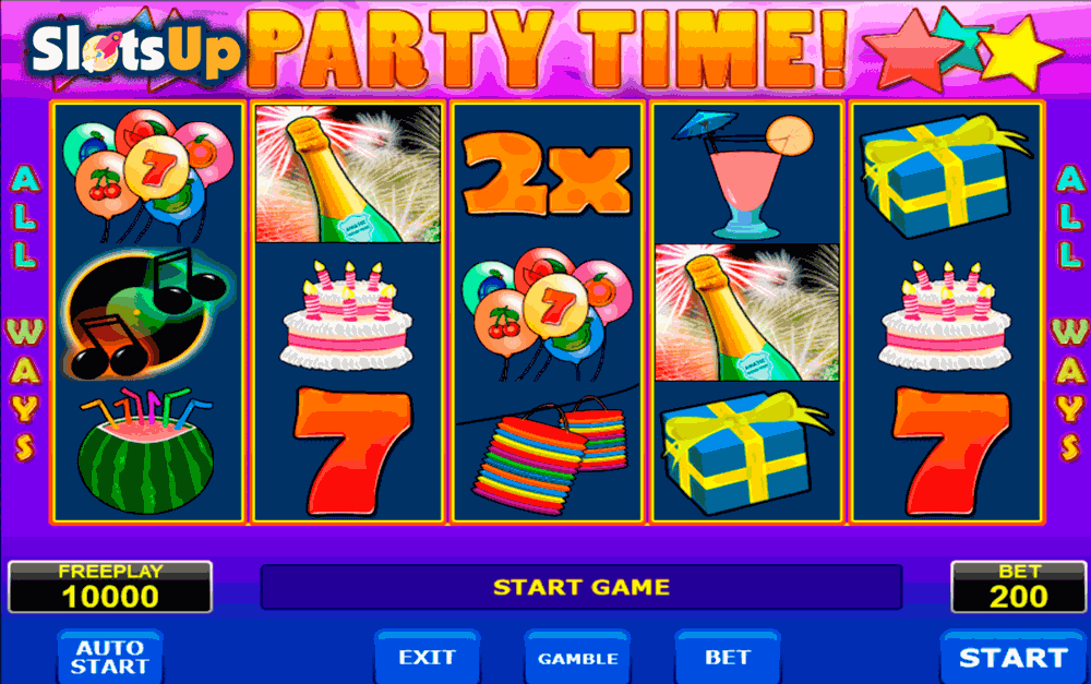 Party Time™ Slot Machine Game to Play Free in Microgamings Online Casinos