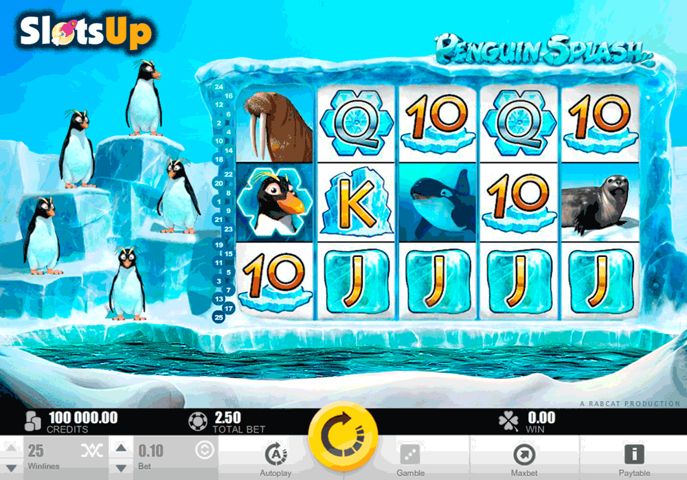 PENGUIN SPLASH RABCAT CASINO SLOTS