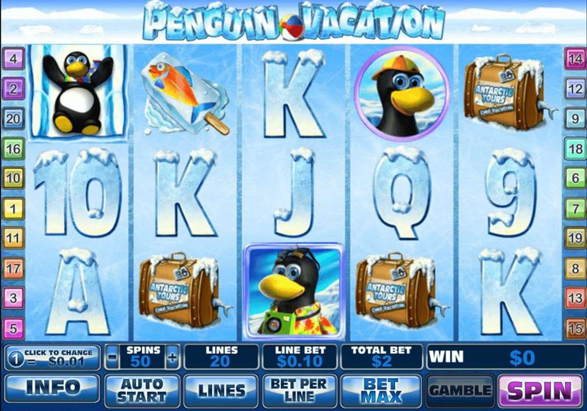 Play Penguin Vacation Online Pokies at Casino.com Australia