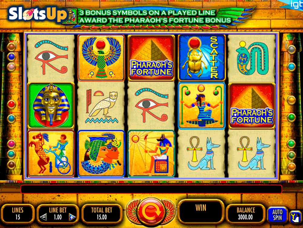 PHARAOHS FORTUNE IGT CASINO SLOTS