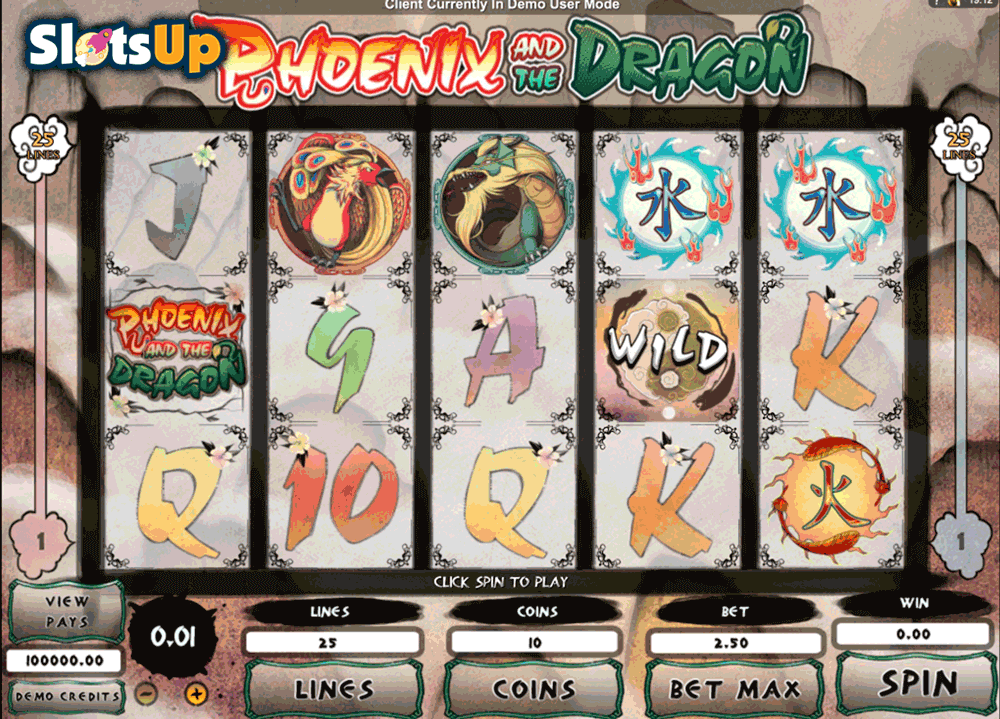 PHOENIX AND THE DRAGON MICROGAMING CASINO SLOTS