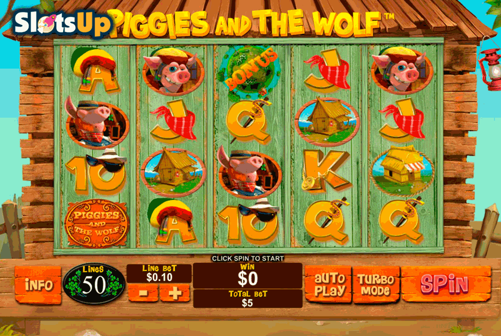 PIGGIES AND THE WOLF PLAYTECH CASINO SLOTS